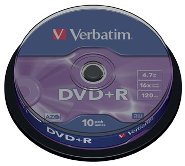 DVD+R 4,7GB 16X SPINDEL 10X