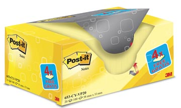POST-IT NOTES 38X51 100V 16+4