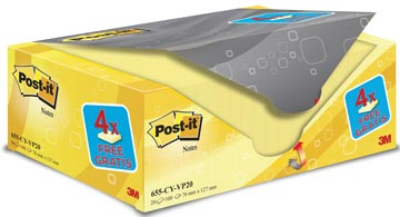POST-IT NOTES 76X127 100V 16+4