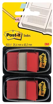 POST-IT INDEX ROOD 50T RD BLS2