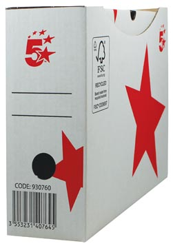 5STAR ARCHIEFDS A4 10CM WIT